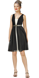 Georgette Beaded Waist Dress