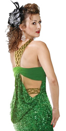 Dramatic Back Drape Evening Dress