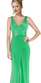 Regal V Neckline Floor Length Gown