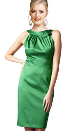St Patrick Day Outfits   Sleeveless Green Dress