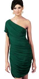Impressive One Shouldered Ruched Dress