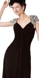 Simple Queen Anne Neckline Dress
