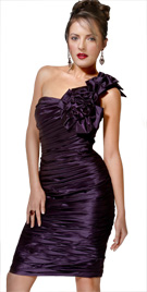 Knee Length One Shoulder Dress   Thanksgiving Collection