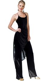 Matte Chiffon Two Piece Jump Suit Dress