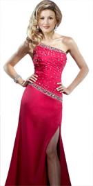 Fabulous Front Slit Stone Studded Dress | Winter Dresses