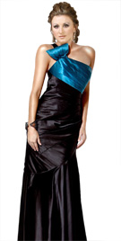 Dual Colored Floor Length Gown | Winter Collection 2010