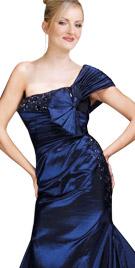 Opulent One Shoulder Floor Length Gown   Winter Wear